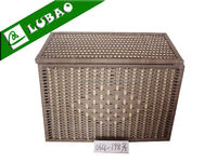 cheap large black square lidded wicker dirty clothes laundry hamper basket