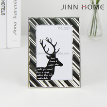 Jinnhome eco-friendly plated shiny colour home decoration 4x6 graduation photo collage metal photo frame
