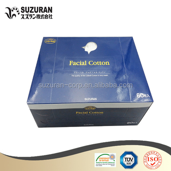 Suzuran Lilybell 60pcs Facial cosmetics cotton square cotton pads