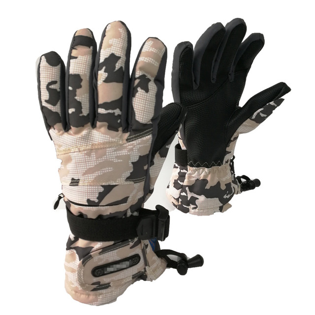 Wholesale Waterproof Winter Ski Gloves Snowboard gloves with wrist guards