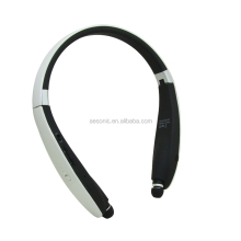 High-end retractable soft earmuff bluetooth headset metal headband bluetooth headphone for music