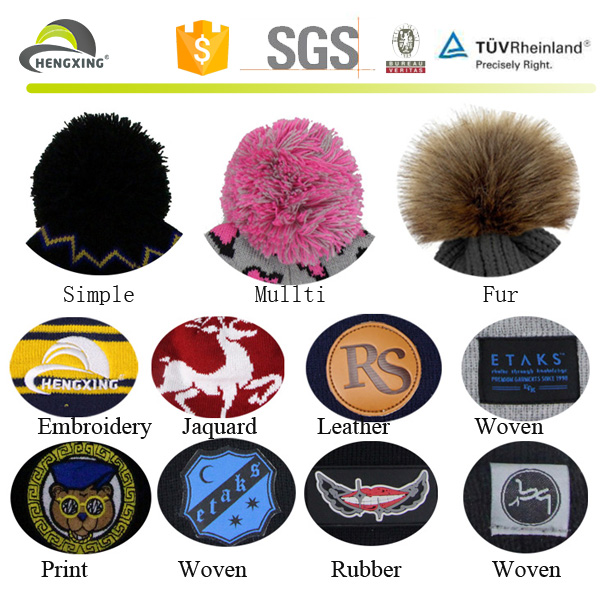 High quality leather patch beanies, Canada beanies hat custom