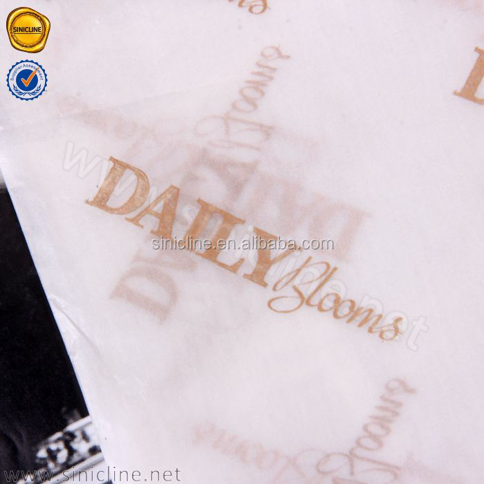 Sinicline metallic rose gold logo white tissue paper wrapping