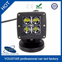 "Small 12w white flood 3"" led driving light for off road military vehicle"