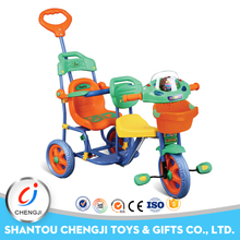 Wholesale plastic kids outdoor car baby twins tricycle