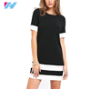 wholesale summer simple fashion short sleeve t shirt dress women casual dress