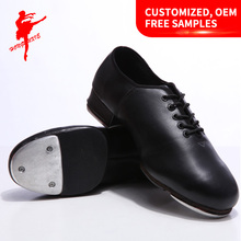 Women Dancing Genuine Leather Tap shoes/Outsole With Metal/Steel 1014