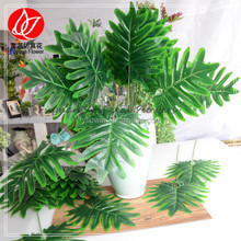 140220 China factory hot sale artificial real touch green leaves for flower arrangement and home decoration