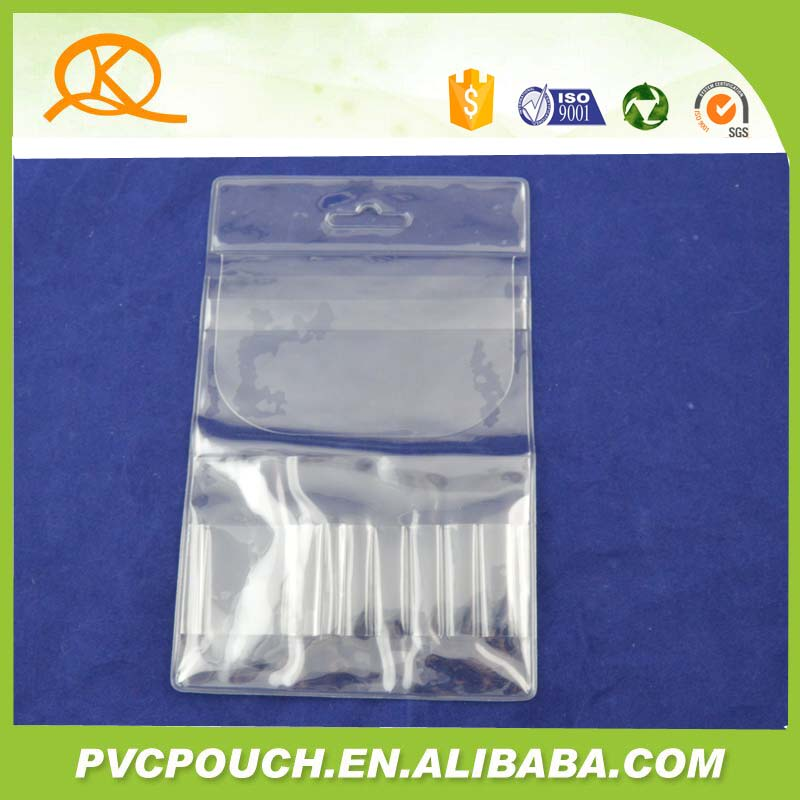 Professional manufacturer pvc clear makeup brush hanging bags