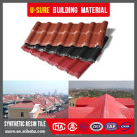 Red Excellent corrosive resistance synthetic resin chinese double layer roof tiles