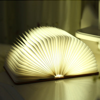 Creative colorful luminous book shape decorative battery powered lamps with usb power