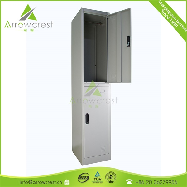Metal furniture cheap 2 door personnel private cloakroom clothes storage cabinet