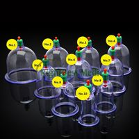 Plastic(PC AS) Vacuum Cupping Cup Single Cup Cupping Set 1 to 10 Size