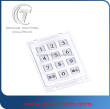 digital access control metal keypad 3x4
