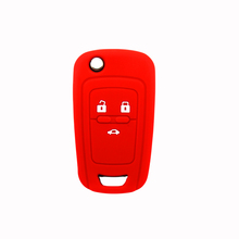 Cheap silicone car key cover 3 button for Chevrolet Cruze car key cover case