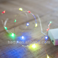 LIDORE cheap battery operated starry multi color copper wire string light