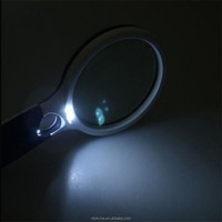 OEM Plastic Handhold YS-8002-4 led magnifying glass