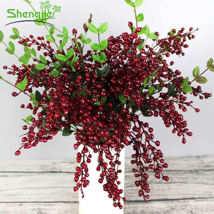 Multi colors Xmas decorative artificial christmas berry picks branch
