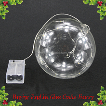 Large clear led light glass ball for christmas decoration