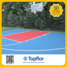 Topflor outdoor pvc plastic flooring for multi-purpose sports courts
