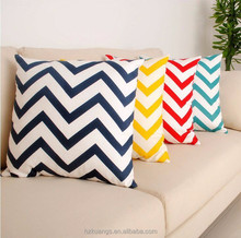 New Fancy Pillow Covers Chevron Printed Pillow Cover Cotton Custom Cushion Cover