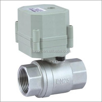 1'' motorized power water ball valve for water meter