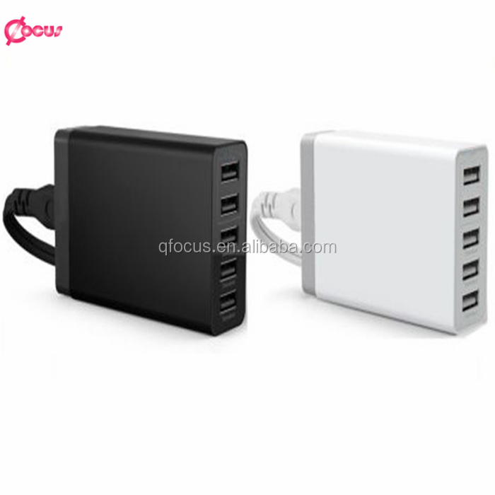 5 port multi USB wall charger adapter, 5V 8A 5 port wall charger for mobile phone
