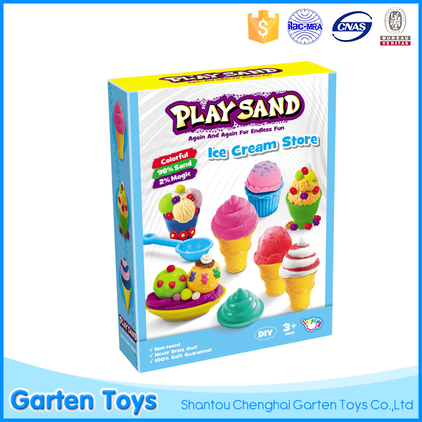 China diy space magic sand toy set for kids play