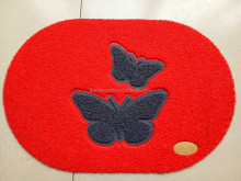 PVC coil Oval shape door mat