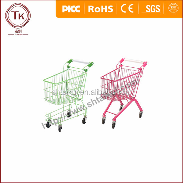 Europe High Quality Kids Hypermarket Shopping Trolley