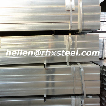 pre galvanized square recangular welded carbon steel pipe