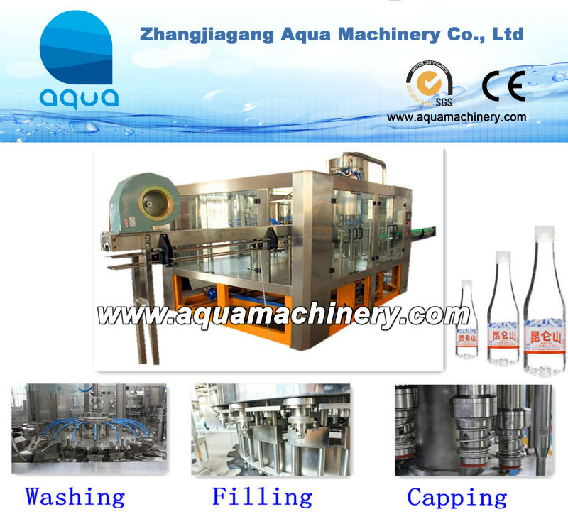 Aqua Machinery Mineral Water 500Ml Pet Bottle Filling Machines
