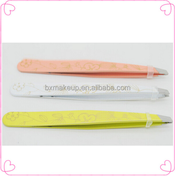 Merheje plastic ceramic tip eyebrow tweezers wholesale