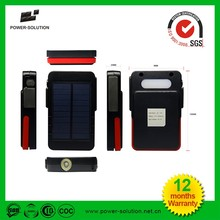 2017 mini waterproof solar power bank portable charger for mobile phone