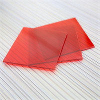 Alibaba china building materials strong fire resistance with pe protective film solar panel polycarbonate sheet