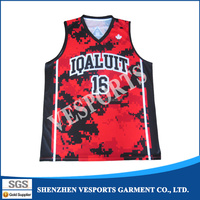Wholesale dri fit reversible latest design custom basketball jersey with sublimation