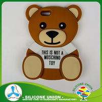 Popular cute bear silicone mobile cell phone case