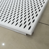 Soundabsorption 2x2 Leaf-shaped Perforated Aluminum 600x600 Strip False Ceiling For Building Construction Materials