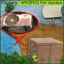 Easily Assembled Portable WPC Wood Plastic Composite Air conditioner Cover