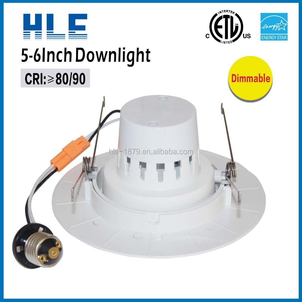 Narrow and wide beam angle 15/ 24/ 38/ 60/100 degree 6 inch 16 w COB Gimbal led recessed downlight