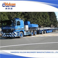 Popular Trailers Cheap 3 Axle Lowbed Semi Trailer (Customized)