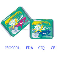 LILI China Sanitary Towel/Sanitary Pad Factory/Lady Sanitary Napkin with Soft Cotton Cover