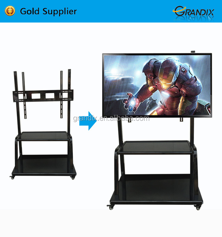 USER LCD interactive touch screen smart whiteboard with floor stand for school,up to 110inch,55inch tv stand with dvd bracket