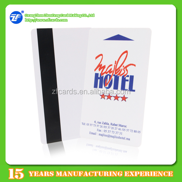 Offset printed plastic atmel temic t5557 hotel cards for access control