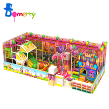 The Latest Candy Theme Residential Indoor Play Playground Equipment Forts for Kids