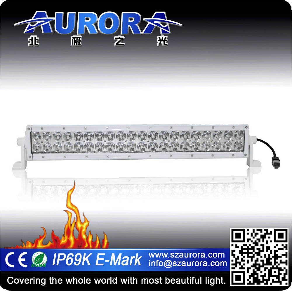 IP69K Aurora 20inch LED dual row marine led light for boat