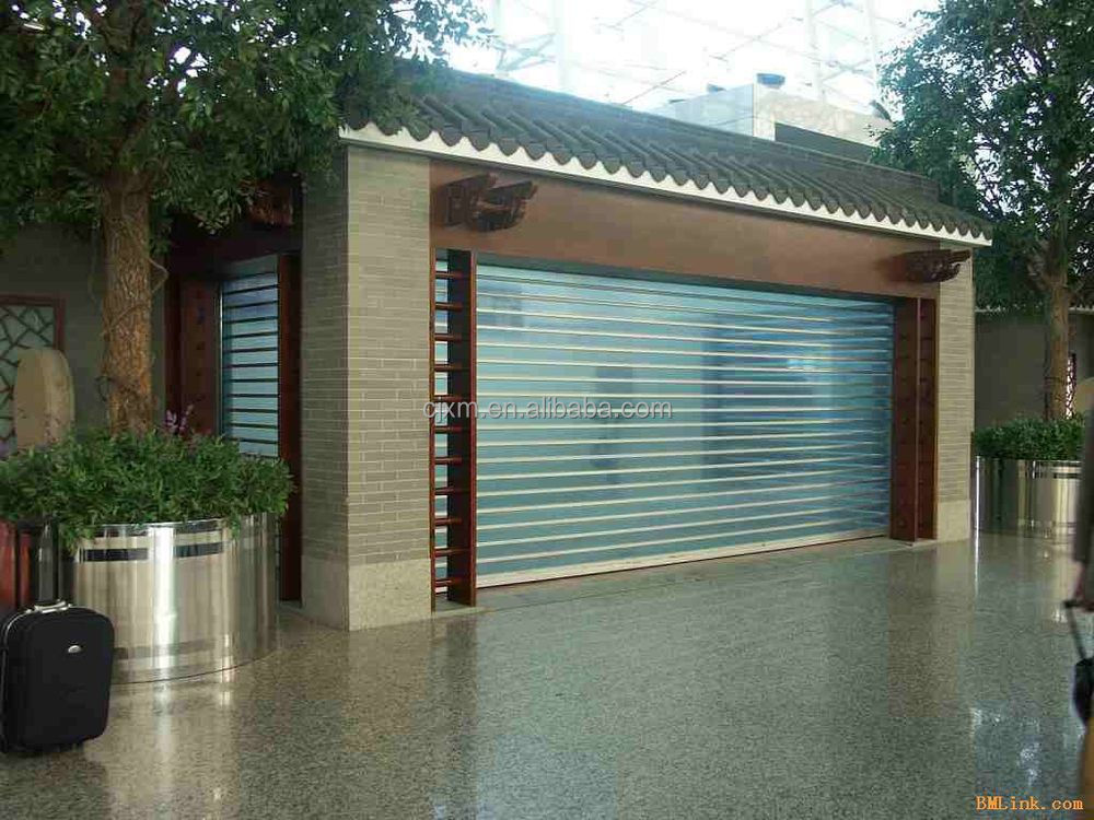 Clear pc link plastic transparent shutter doors