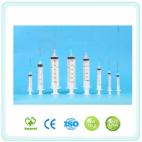2015 Medical Equipment Factory Price 5ml 2cc Disposable Syringe with Needle for Sale