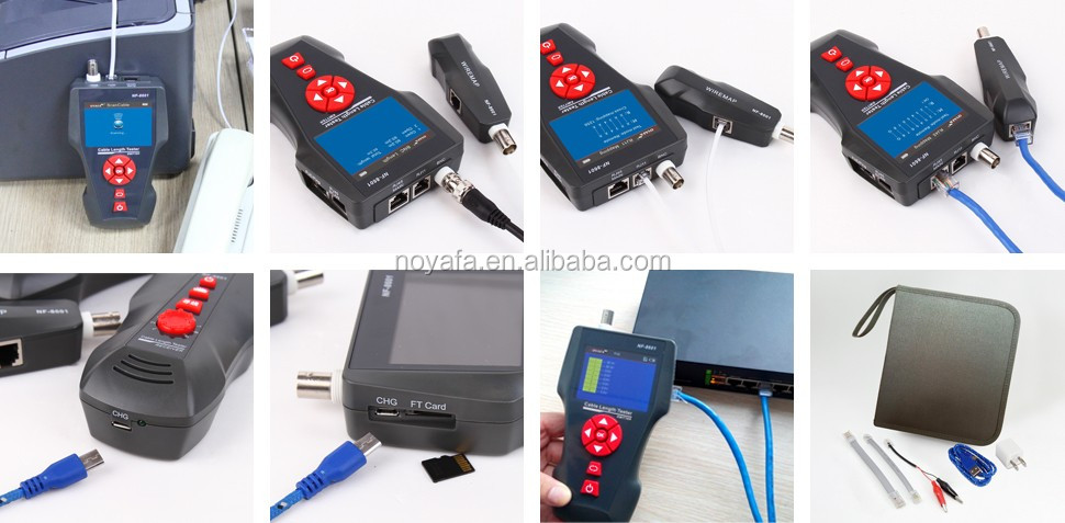 HOT ! Multifunction Network Cable finder wire tracker With POE & PING and RJ45 RJ11 USB BNC