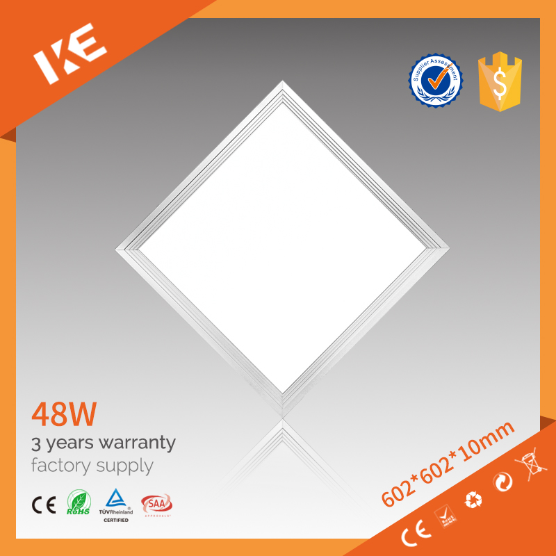 ce tuv saa ul approved square led panel light, lighting panel 48w, led panel dimmable